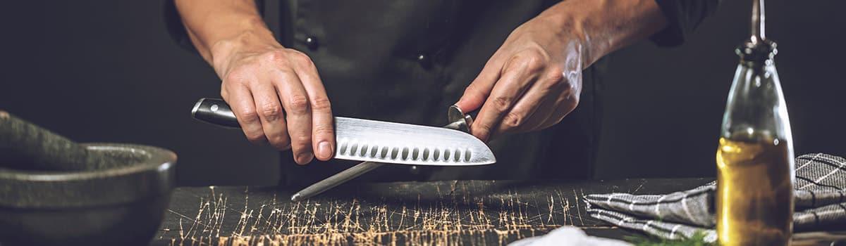 Cómo afilar un cuchillo jamonero